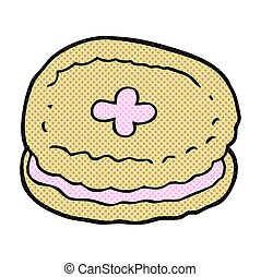 cartoon biscuit - freehand drawn cartoon biscuit