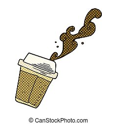 cartoon coffee spilling - freehand drawn cartoon spilling...