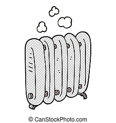 cartoon radiator - freehand drawn cartoon radiator