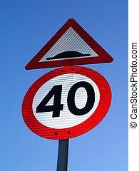 40 sign - speedlimit 40