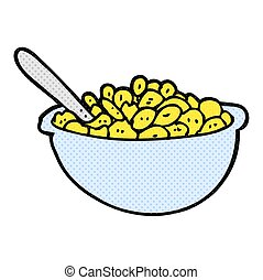 cartoon bowl of cereal