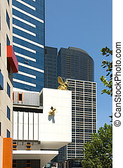 Inner-City Buildings - Inner-city buildings in Melbourne,...