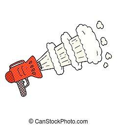 cartoon loud megaphone