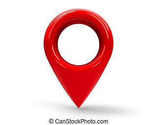 rojo, mapa, indicador, #2,