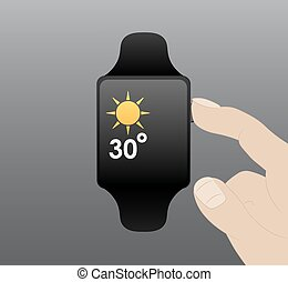Smart Watch, Vector Flat design - Vector image, smart watch,...