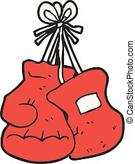 cartoon boxing gloves - freehand drawn cartoon boxing gloves