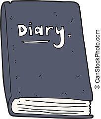 cartoon diary - freehand drawn cartoon diary