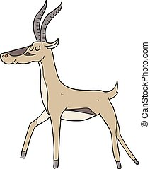 cartoon gazelle - freehand drawn cartoon gazelle