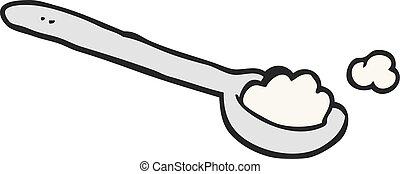 cartoon teaspoon of salt - freehand drawn cartoon teaspoon...