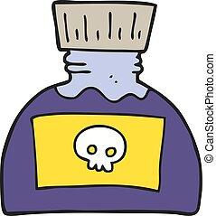 cartoon poison - freehand drawn cartoon poison