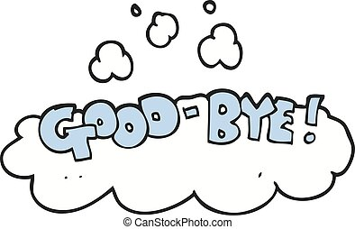 cartoon good-bye symbol - freehand drawn cartoon good-bye...