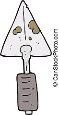 cartoon trowel - freehand drawn cartoon trowel