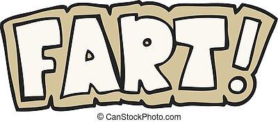 cartoon fart symbol - freehand drawn cartoon fart symbol