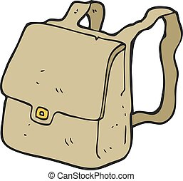 cartoon satchel - freehand drawn cartoon satchel