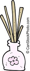 cartoon fragrance oil reeds - freehand drawn cartoon...
