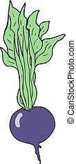cartoon beetroot - freehand drawn cartoon beetroot