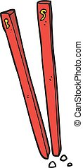 cartoon chopsticks - freehand drawn cartoon chopsticks
