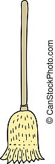 cartoon sweeping brush - freehand drawn cartoon sweeping...
