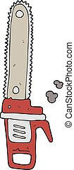 cartoon chainsaw - freehand drawn cartoon chainsaw