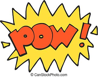 cartoon pow symbol - freehand drawn cartoon pow symbol