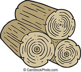 cartoon logs - freehand drawn cartoon logs
