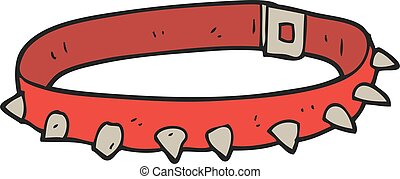 cartoon dog collar - freehand drawn cartoon dog collar