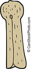 cartoon old wooden peg - freehand drawn cartoon old wooden...