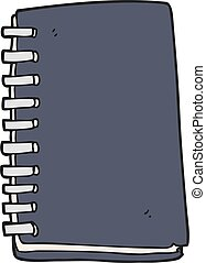 cartoon note book - freehand drawn cartoon note book