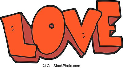 cartoon love symbol - freehand drawn cartoon love symbol