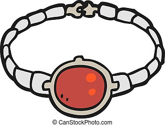 cartoon ruby bracelet - freehand drawn cartoon ruby bracelet