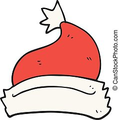 cartoon christmas hat - freehand drawn cartoon christmas hat