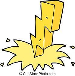 cartoon lightning bolt - freehand drawn cartoon lightning...