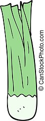 cartoon leek - freehand drawn cartoon leek