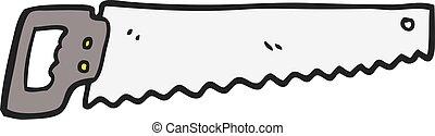 cartoon saw - freehand drawn cartoon saw