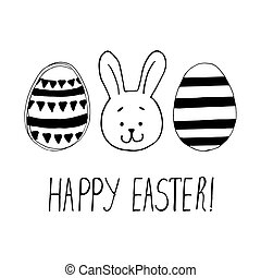 Easter greeting with easter eggs