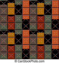 Squares seamless pattern retro texture background