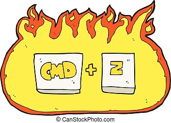 cartoon command Z function - freehand drawn cartoon command...