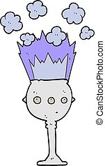 cartoon magic goblet - freehand drawn cartoon magic goblet