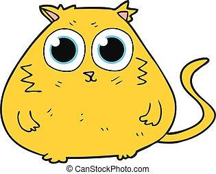 cartoon cat with big pretty eyes
