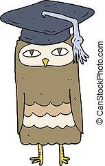 cartoon wise owl