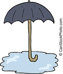 cartoon wet umbrella