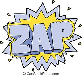 cartoon zap explosion sign - happy freehand cartoon zap...