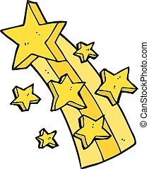 cartoon shooting star - freehand drawn cartoon shooting star