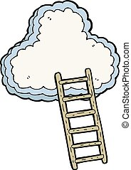 cartoon ladder to heaven