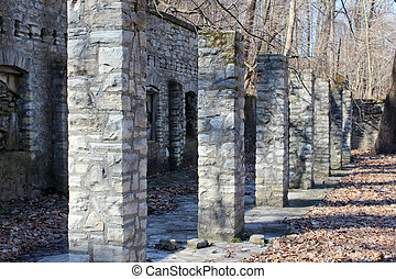 Stone Ruins from Work Progress Administration Era in Fort...