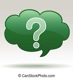Questions - Illustration of a question icon onisolated grey...