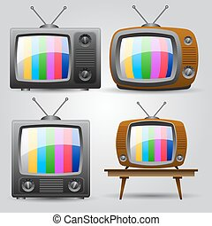 set of four TV