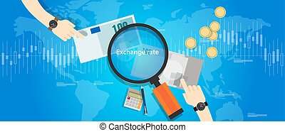 money exchange rate market currency price curs vector