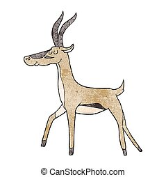 textured cartoon gazelle - freehand textured cartoon gazelle