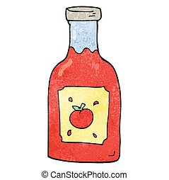 textured cartoon ketchup - freehand textured cartoon ketchup